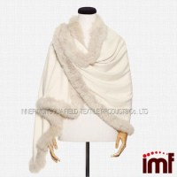White Fox Fur Shawl Cashmere Shawl With Fur - Buy Cashmere ...