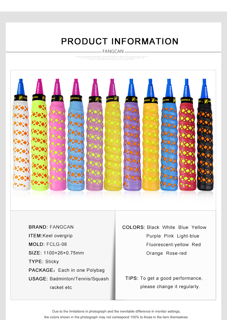 Pegangan Raket : pegangan, raket, Raket, Tenis, Badminton,Kualitas, Tinggi, Pegangan, Anti-slip, Overgrip, Ridge, Overgrip,Sprorts, Product, Alibaba.com