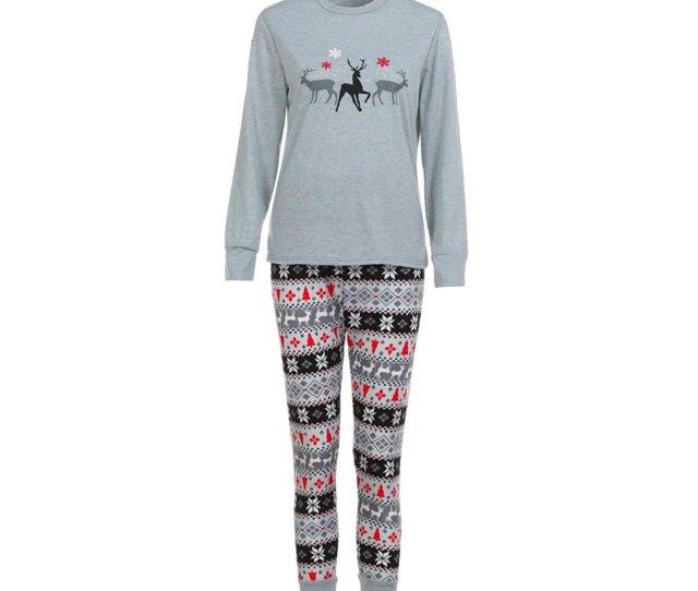Get Quotations  C B Appoi Christmas Pajamas Matching Family Man Women Baby Kids Deer T Shirt Blouse Pants Pajamas Christmas