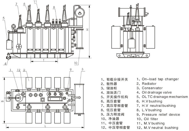 Iec Standard 66kv On-load-tap-changing Power Transformer