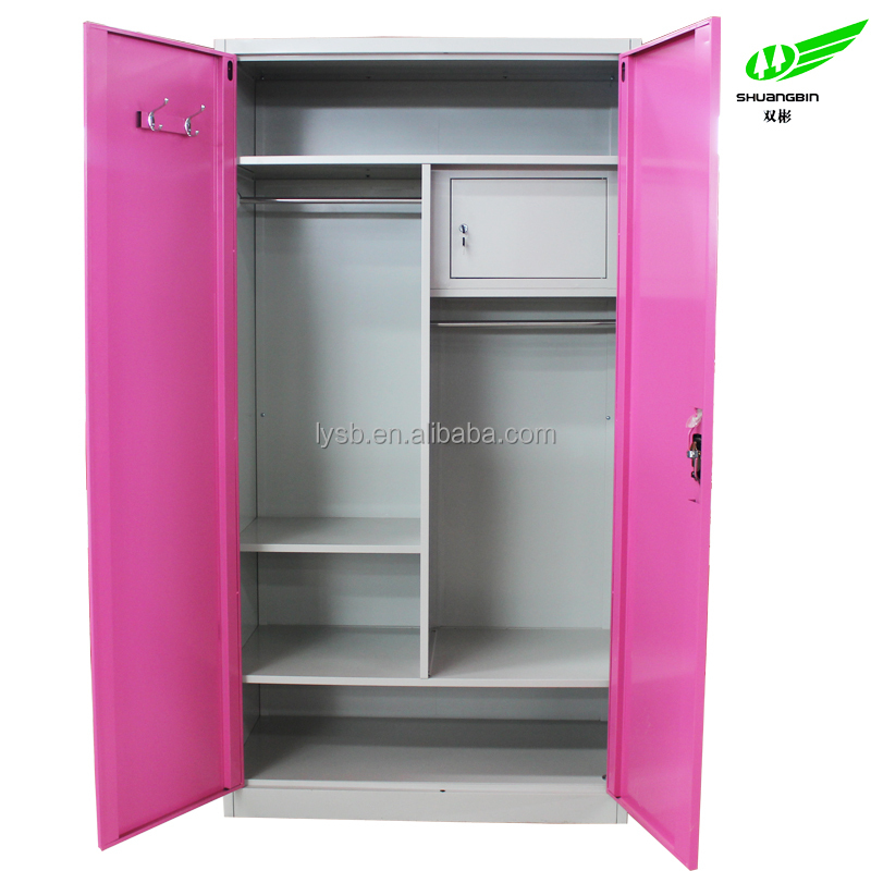 2 Door Metal Bedroom Furniture Cheap Clothes Cabinet