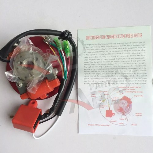 small resolution of high performance magneto stator rotor for 110 125cc atv dirt bike