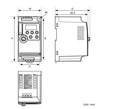 S800e Super Mini Vfd Rail Mounting Inverter 380v Three