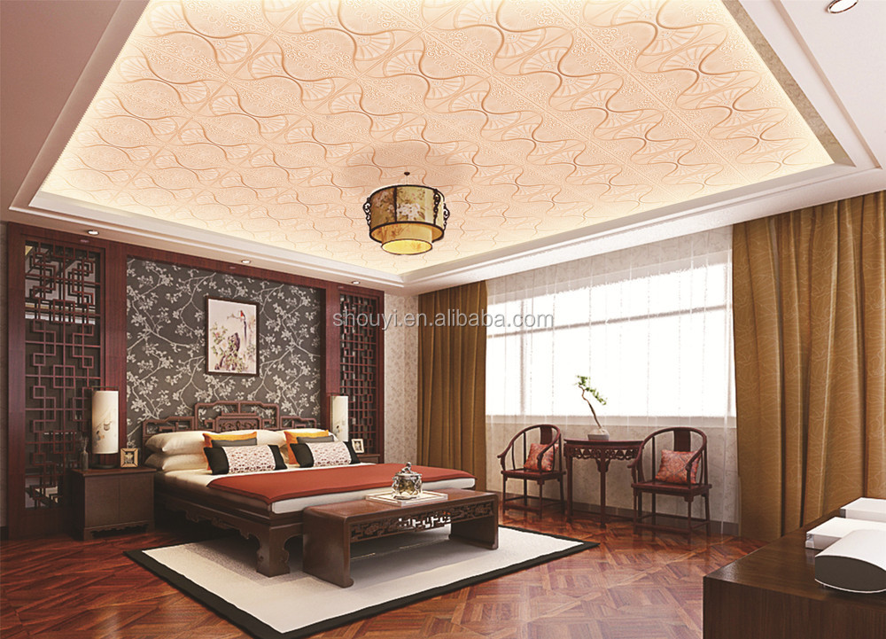 3d Leather Wall Panels Interior Decorative Ceiling Paper