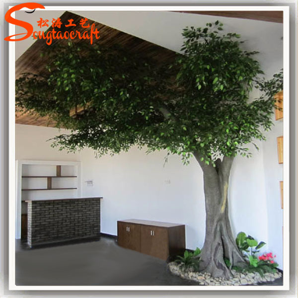 artificial plants for living room indian furniture decorative live ficus tree floor lush greenery