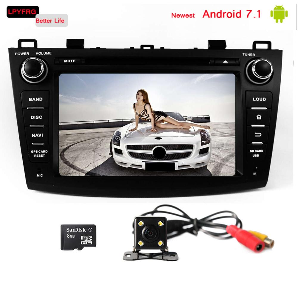 medium resolution of 8 inch touch screen car gps navi radio for mazda 3 android 7 1 built in 3 4g wifi mazda 3 car video interface