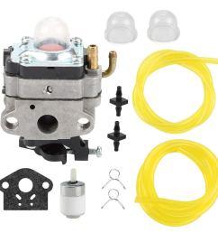get quotations buckbock 753 1225 carburetor with fuel filter line for ryobi 650r 825r 825ra 875r 890 [ 1000 x 1000 Pixel ]