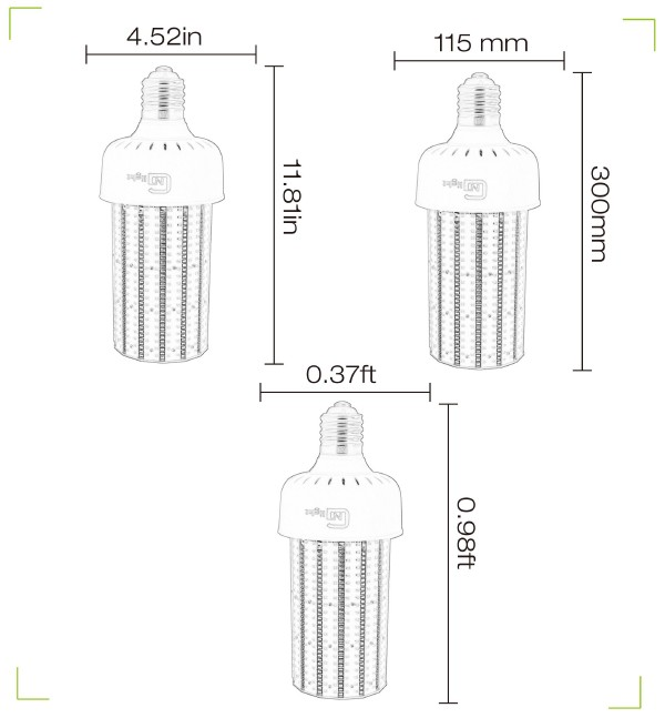 480v Cobra Head Retrofit 120w Led Corn Cob Lamp For