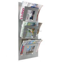 Office Wall Mounted Magazine Rack Metal Newspaper Rack ...