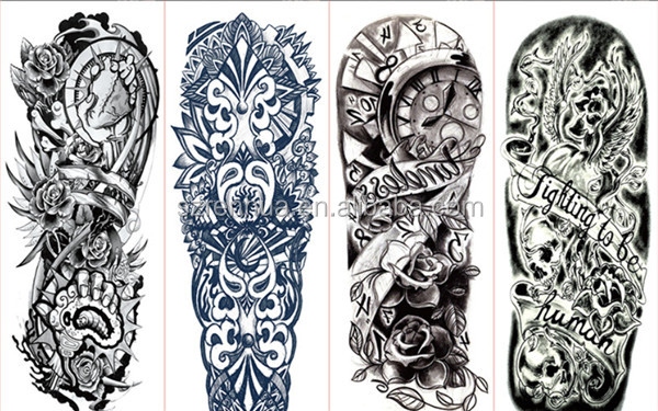 Brazo Completo Tatuaje Pegatinas Flor Grande Hombro Tatuajes Falsos