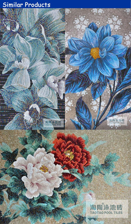 Decorative Beautiful Free Design Long Art Mosaic Flower