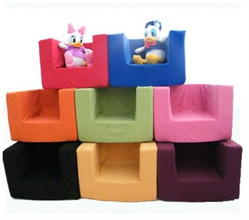 Kids Childrens Comfy Chair Toddlers Foam Armchair Boys