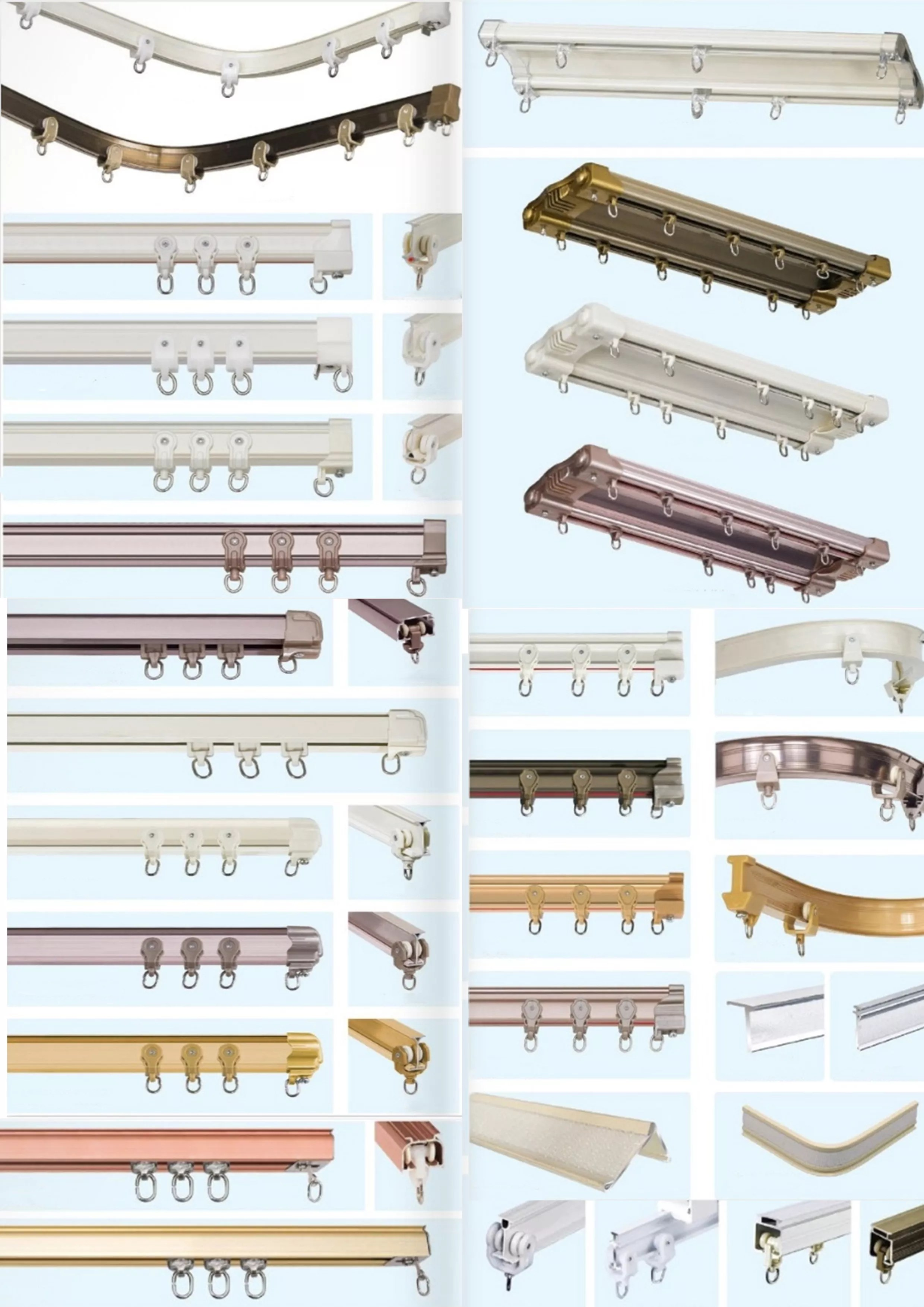heavy duty aluminum ceiling curtain track for bay window double curtain rail track view industrial curtain track yutian product details from foshan