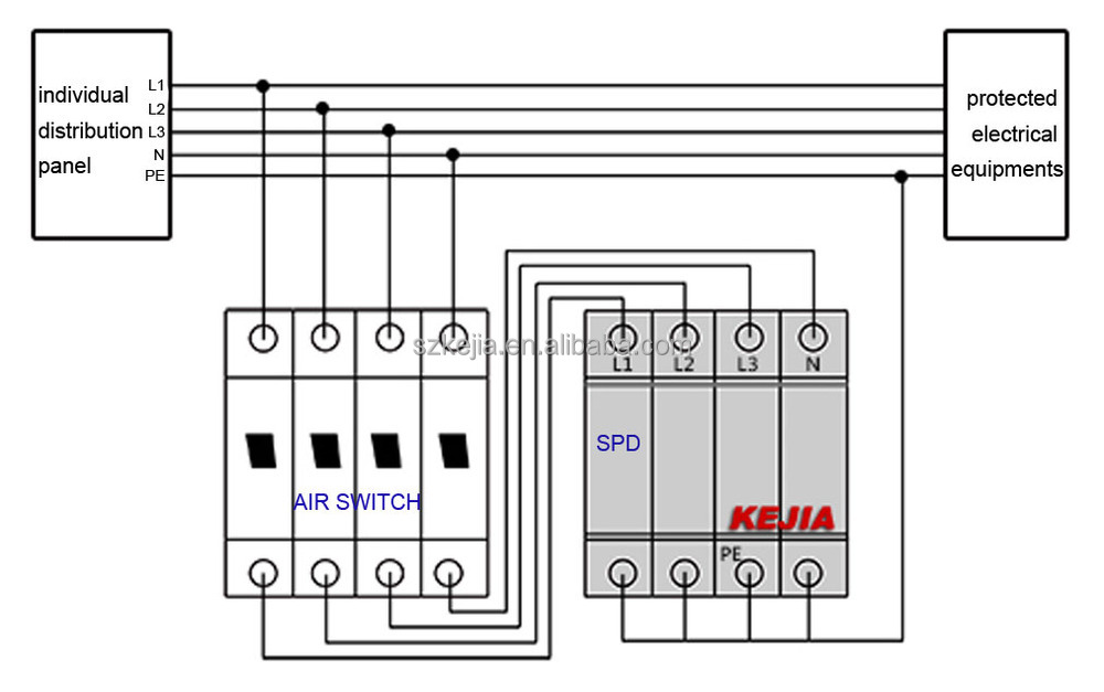 Single Phase Surge Protector Wiring Diagram Wiring Diagram