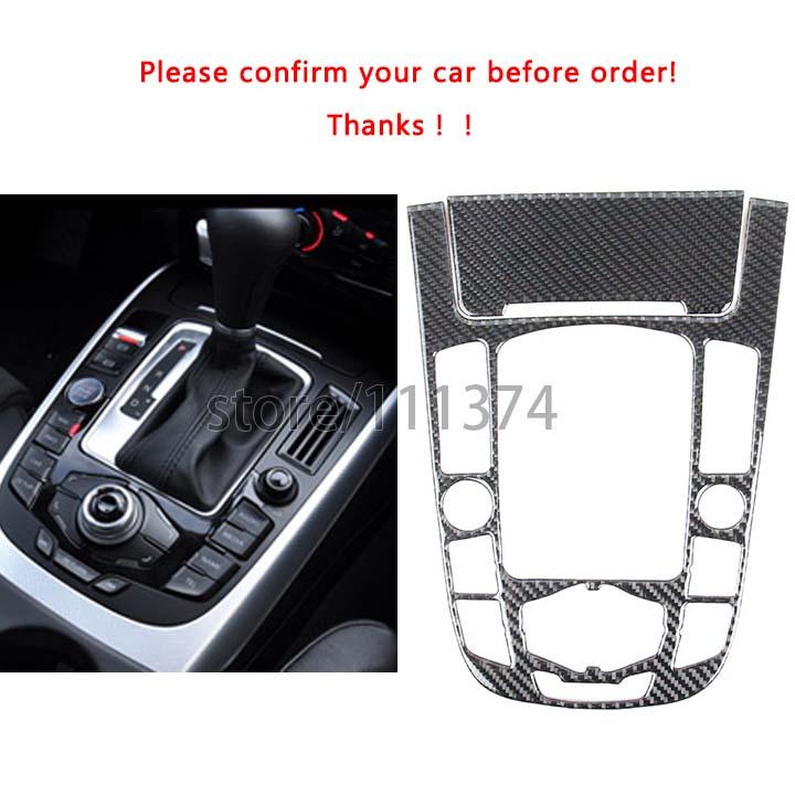 Carbon Fiber Dashboard Gear Shift Side Frame Cover Trim for Audi A4 A5 B8 A10