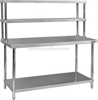 Assembly 2 Tier Kitchen Work Table/ Stainless Steel