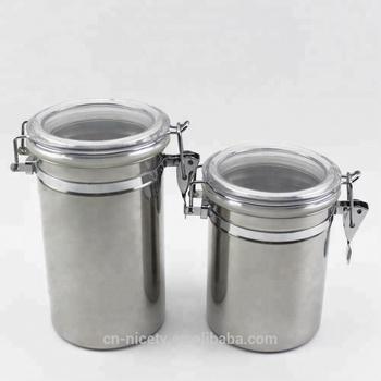 etanche en acier inoxydable etanche cuisine sucre cafe ensembles de bidon de the