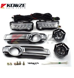 fog lamp daytime running light with wires complete set for mitsubishi pajero montero 4 iv 2015 [ 1000 x 1000 Pixel ]