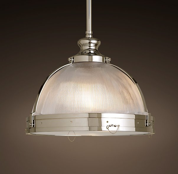 New Clemson Prismatic Single Glass Pendant Light For Hotel