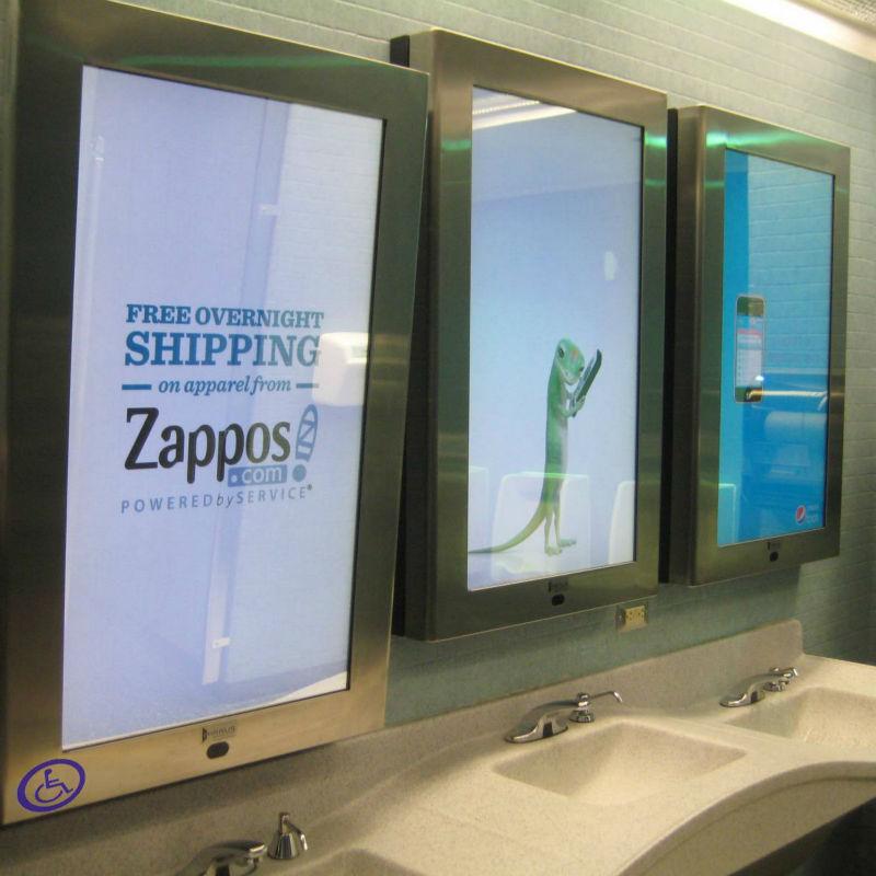 pubblicit wifi lcd specchio interattivo per specchi da