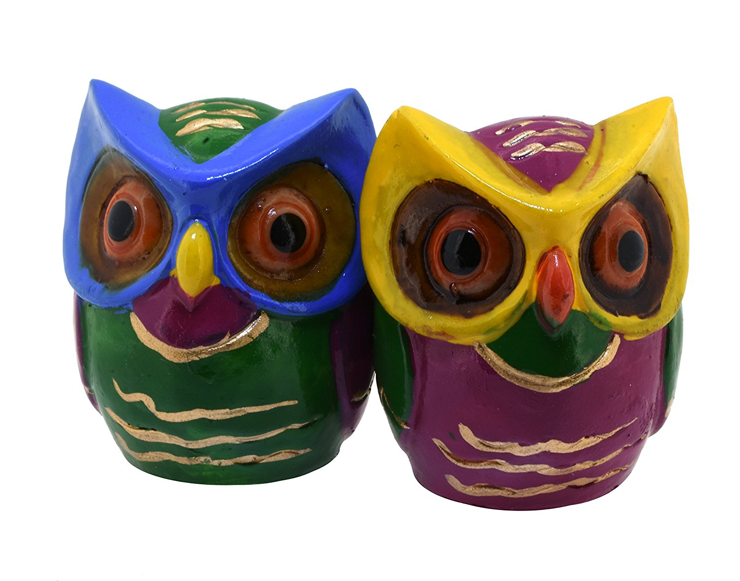 Cute Owl Decor Buy Pair Of Small Colorful Cute Owl Statues Decorative Figurines
