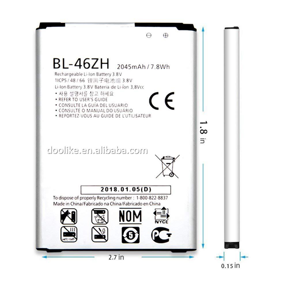 2125 / 2045mah 3.8v Cell Phone Battery For Lg K7 Battery