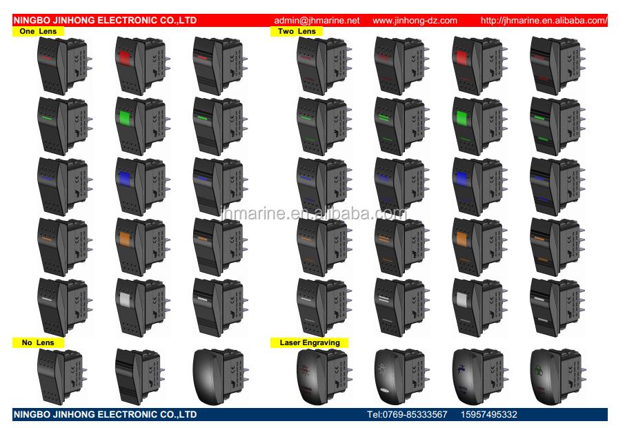 illuminated marine rocker switches shading venn diagram examples 12v 24v waterproof switch with ip68 grade