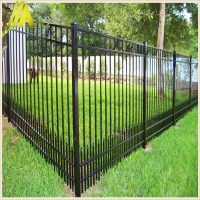 Powder Coating Backyard Black Aluminum Fence With