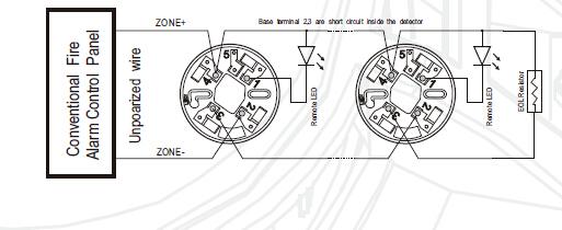 Optical Smoke Det Activ En54-7 Wiring Diagram : High