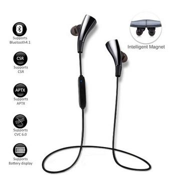 Bluetooth 4.1 Magnetic Wireless Headphones Smart Apt-x Bt
