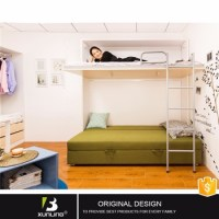 Latest Designs Wood Double Deck Adult Single Wall Bed ...