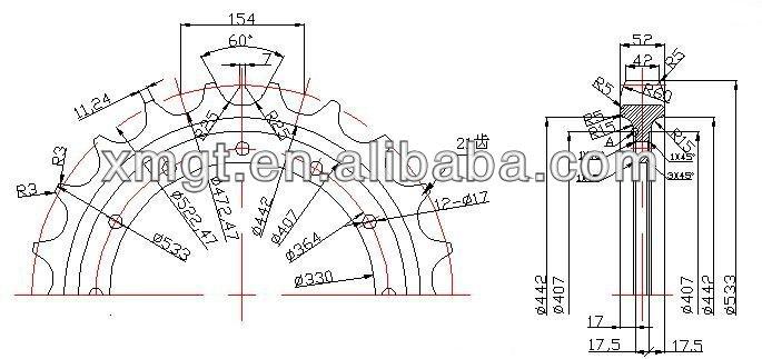 bulldozer spare parts segment group segment for D275A-5