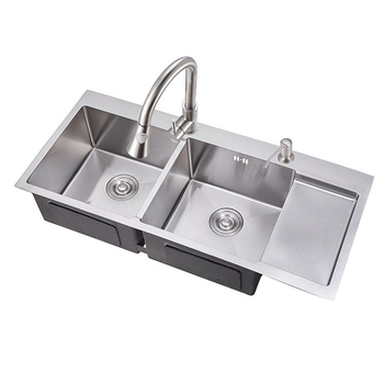 rv kitchen sink duck egg blue wall tiles 2018 stainless steel double bowl pedestal with drainboard sld 10045