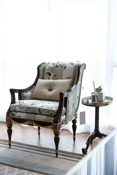 living room arm chair interior design modern contemporary vintage style villa single sofa carved wooden imperial gold painted one seat