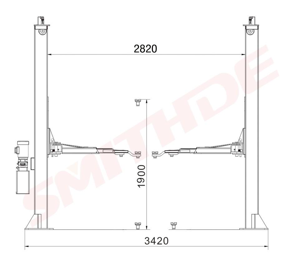medium resolution of smithde smdtpf 2 post used home garage car lift auto car lift used