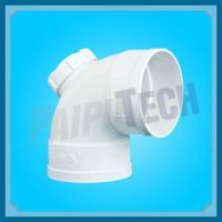 Plastic Sewage Pipe Fitting Pvc Elbow 90 With Cleanout ...