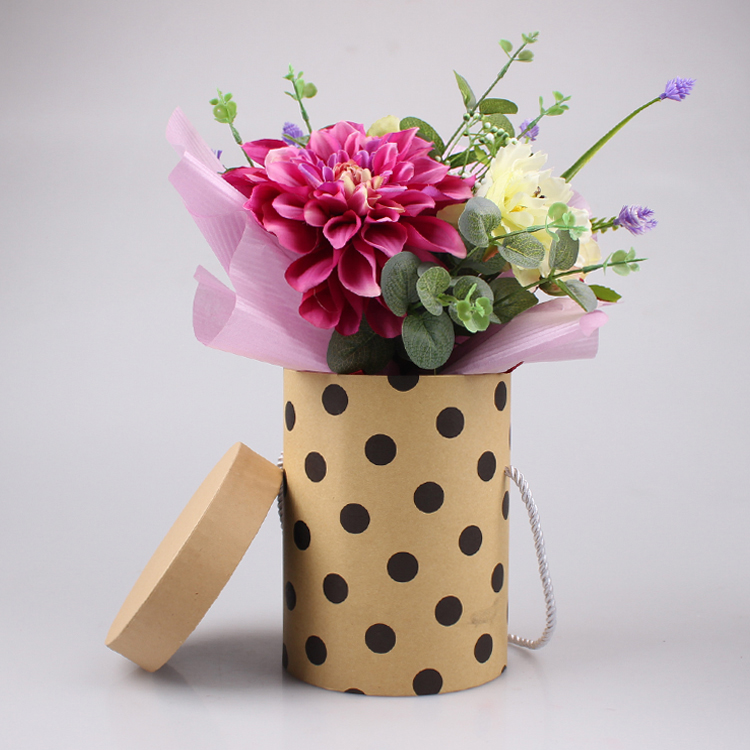 Factory Wholesale Luxury Paper Flower BoxFlower Hat Box
