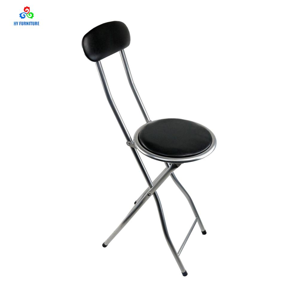 folding chair kitchen retro aluminum chairs round seat metal bar wholesale buy
