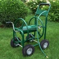 Garden Cart Four Wheel Metal Hose Reel Cart 80m - Buy Hose ...