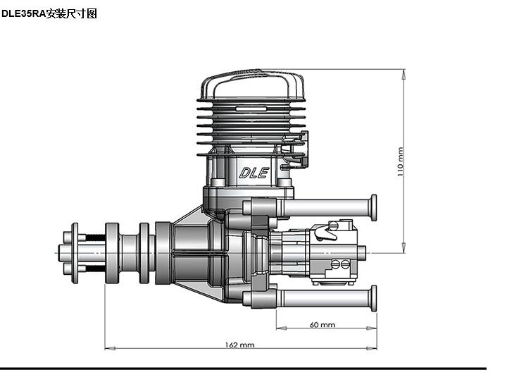 Original New Dle35ra 35cc Gasoline Engine For Rc Airplane