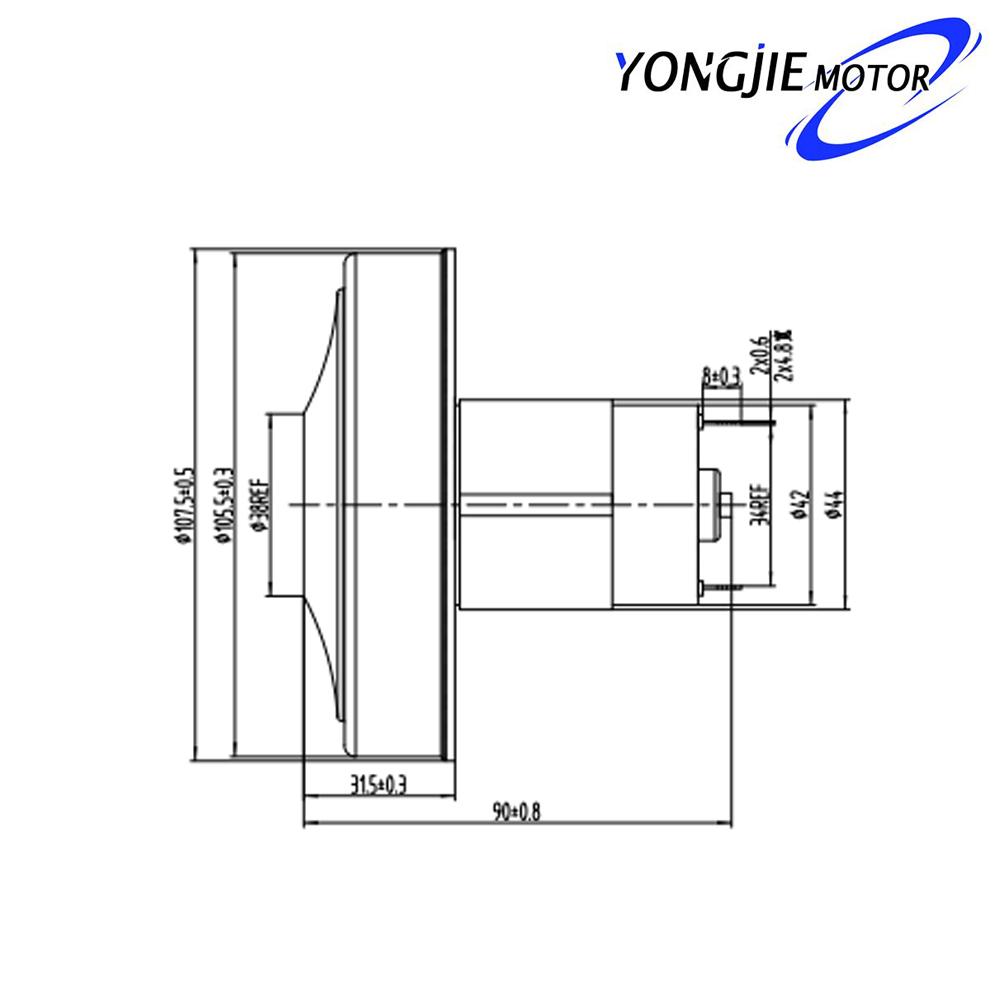 YDBR7 * 5 s dcvacuum limpiador motor_12v 300 W DC motor