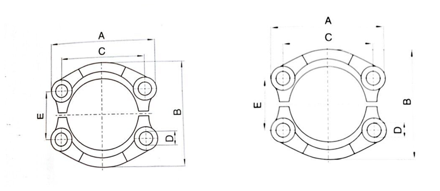 High Quality Flange Adapter Sae Split 3000 Psi 6000psi