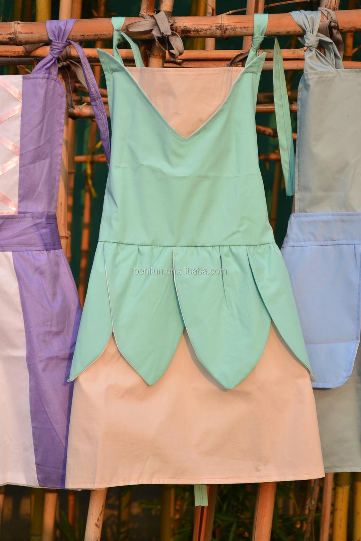 kitchen apron for kids sink sprayer parts baby girls cheap cooking aprons children s princess and frozen elsa anna