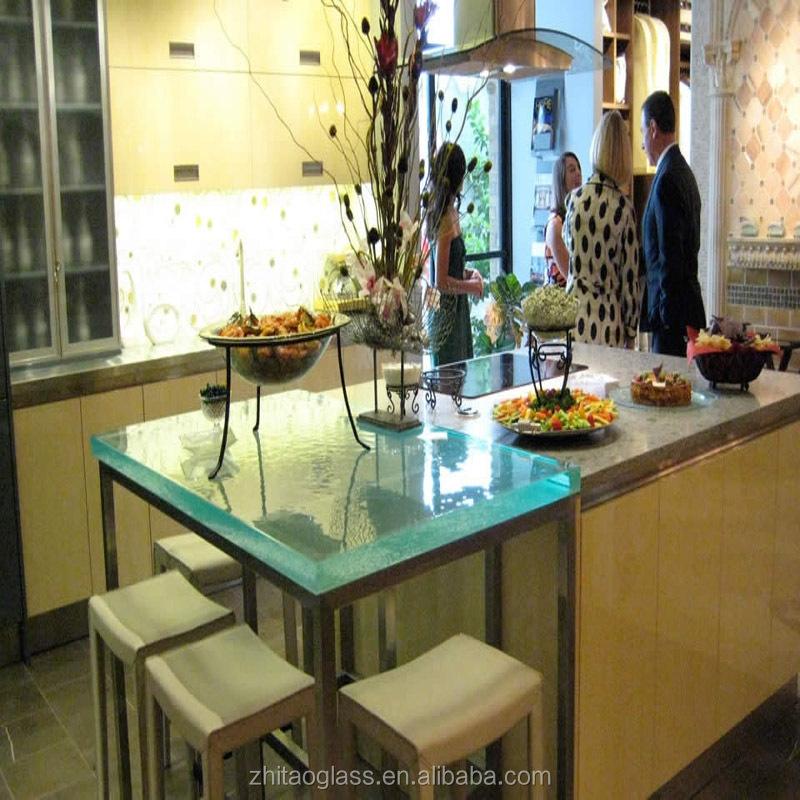 verre moderne comptoir de cuisine en