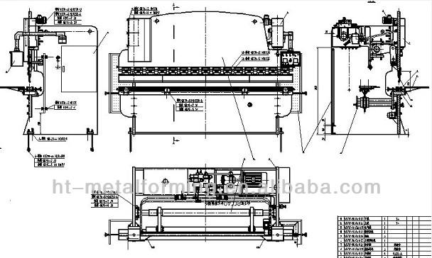 Press Brake Tool Wc67y-100/2500 Hydraulic Press Brake