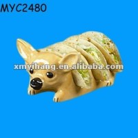 Chihuahua Shaped Ceramic Bread Holder - Buy Ceramic Bread ...
