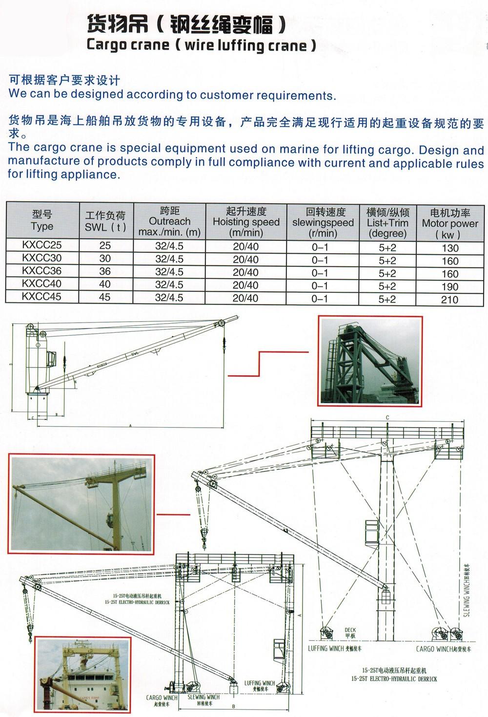 medium resolution of hydraulic or electric cargo ship deck marine crane
