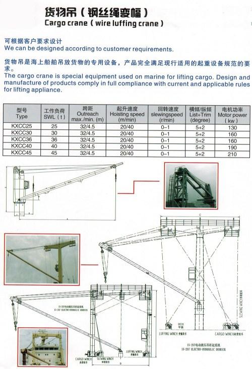 small resolution of hydraulic or electric cargo ship deck marine crane