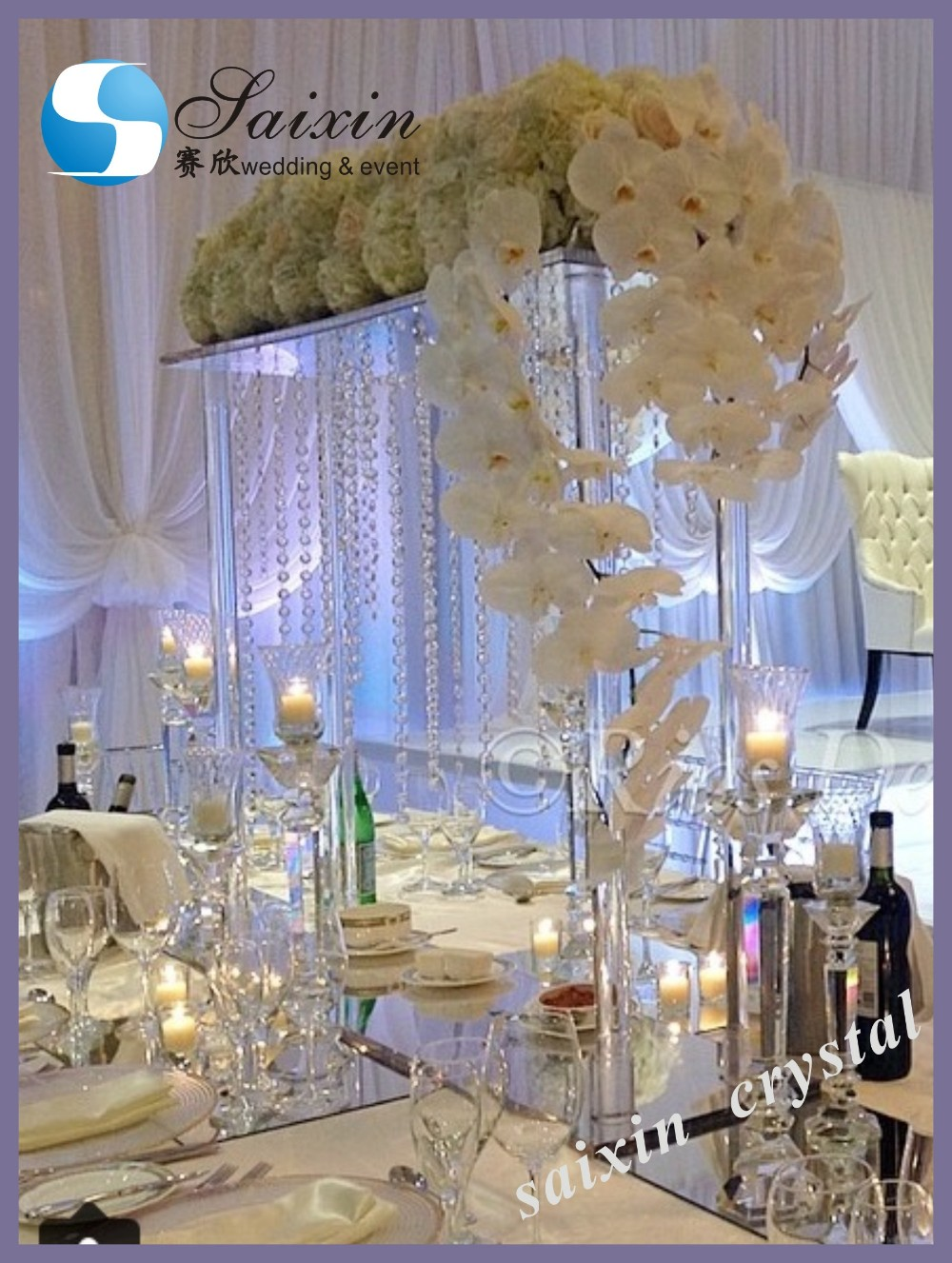 New 6 Tiered Crystal Wedding Cake Stand For Wedding