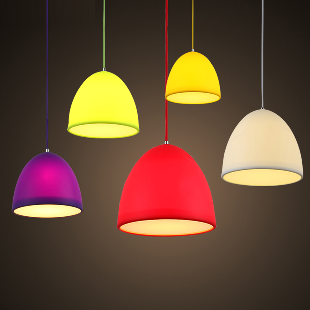 Colorful Silicone Pendant Lamp Shade For Led Light Housing